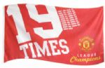 Manchester Utd Football Club Large Flag style 4 - 5' x 3'.